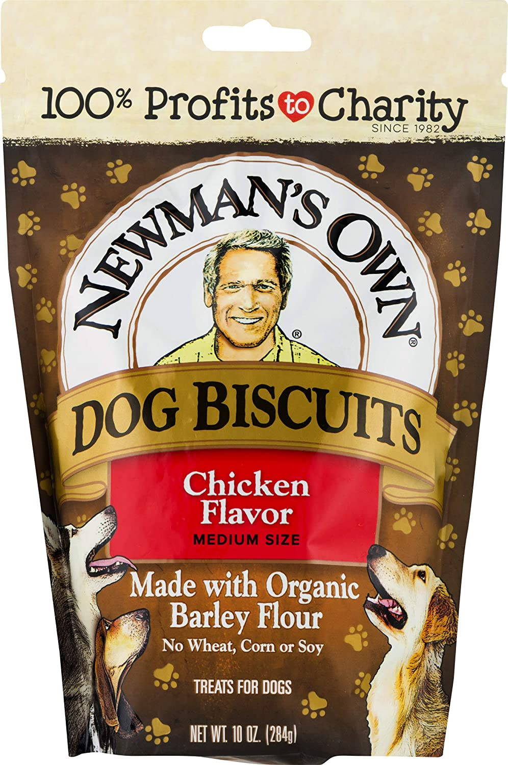 Newman'S Own Dog Biscuits, Chicken Formula - Medium, 10-Oz. (Pack Of 6)