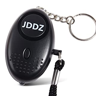 Personal Safety Alarm, JDDZ 140 db Safe Siren Song Emergency Self Defense Protection Device Anti-Rape/Anti-Theft Security With Mini LED Flashlight for Women, Kids and Elderly etc.(Black)