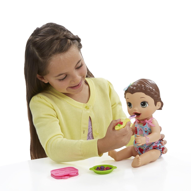 Amazon Baby Alive Super Snacks Snackin Lily Brunette Toys