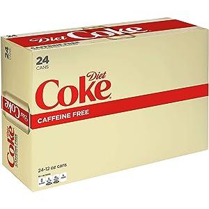 Diet Coke Caffeine Free Soda Soft Drink, 12 fl oz, 24 Pack
