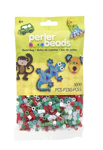 perler beads christmas mix bead bag 1000 count - Perler Beads Christmas