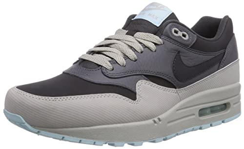 new product 72ca8 ca95a Nike Air Max 1 Leather 654466-201 Dark Ash Dark Grey Suede Mens Running