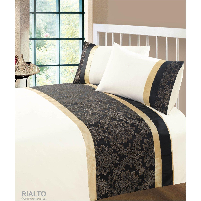 Rialto Luxury 2 Piece Damask Design Jacquard UK Standard Single Bed