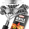 GRILLART Grill Brush Bristle Free & Scraper - Safe BBQ Brush for Grill - Non Wire Stainless Grill Cleaner/Cleaning Brush - Best Rated BBQ Accessories Scrubber - Safe for Porcelain/Gas/Charbroil Grates