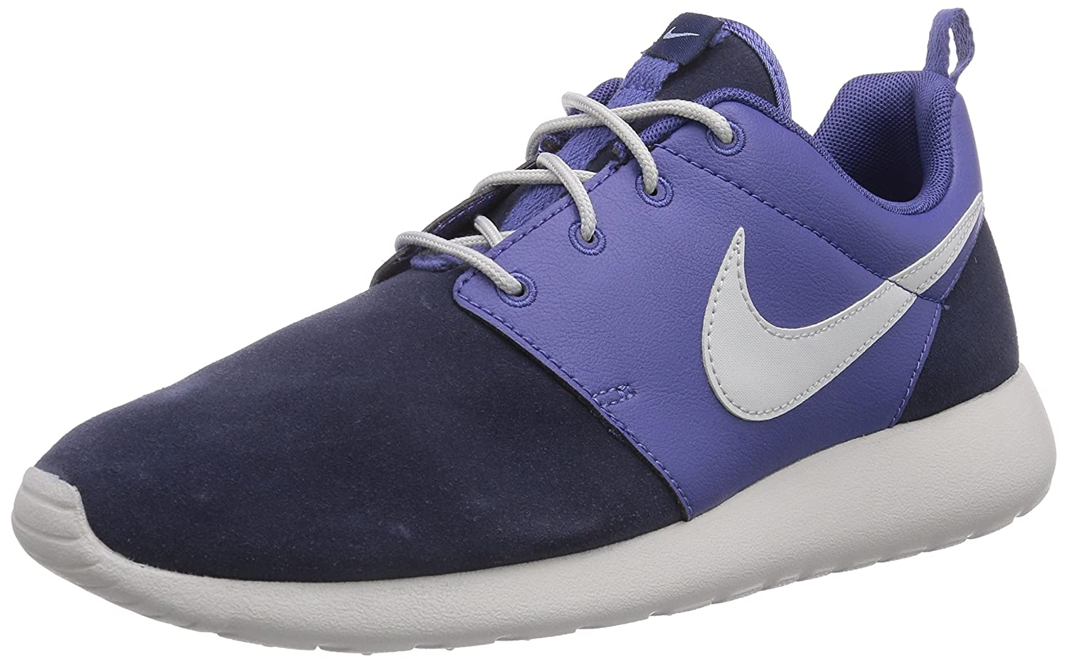 Nike Roshe Run Premium Herren Sneakers  445 EU|Blau (Blue Legend/Light Bone-obsdn 401)