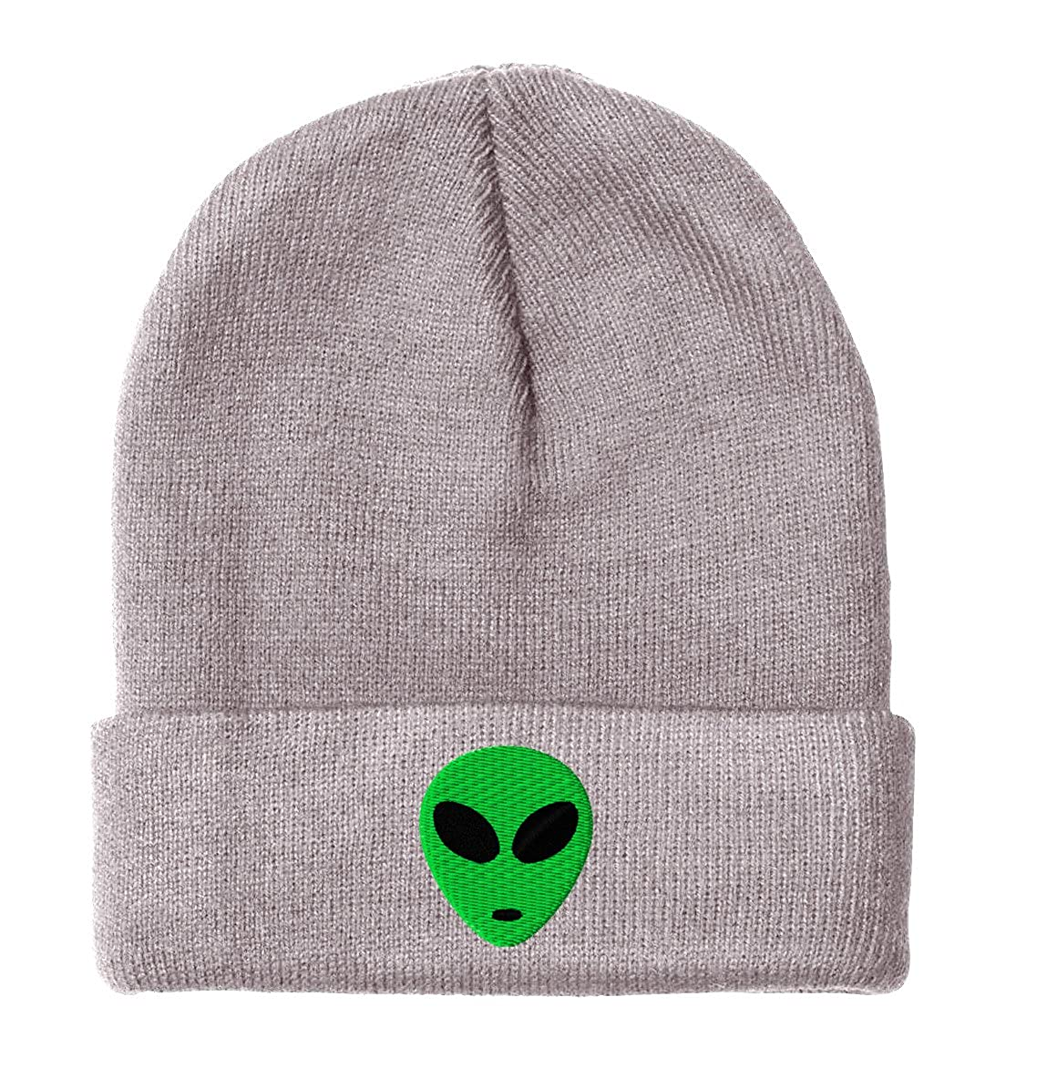 new products 79f14 4018b Amazon.com  GREEN-ALIEN- Beanie-Black  Clothing