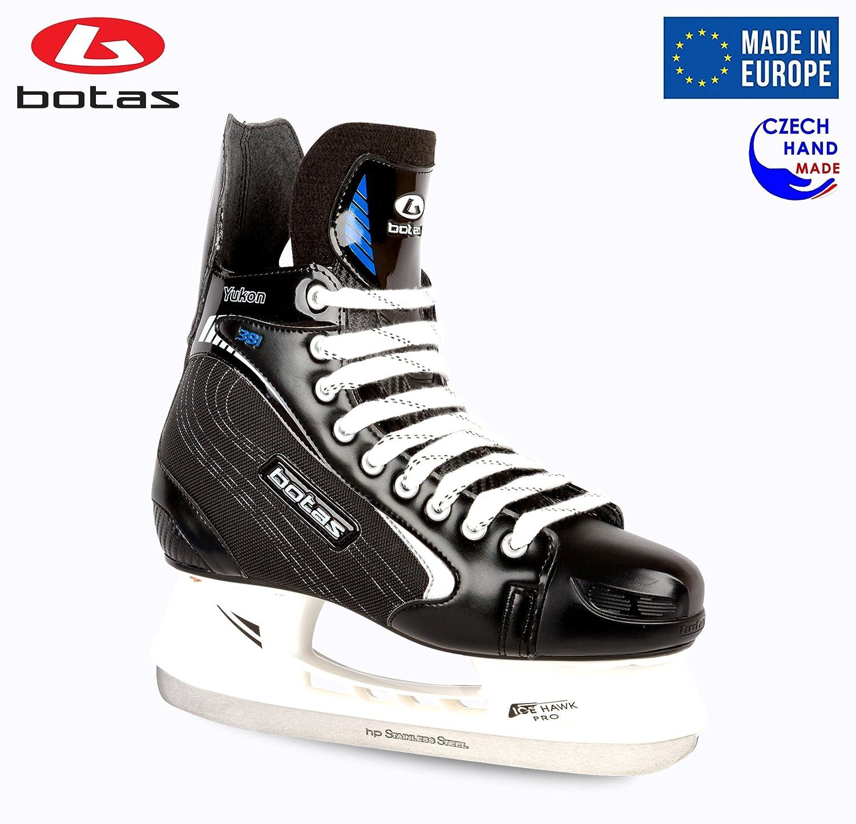 Botas – ユーコン381 – Men 's Ice Hockey Skates | Made inヨーロッパ(チェコ) |色:ブラックwithシルバー B06XZZNTR7 Adult 11