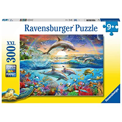 Ravensburger 12895 Dolphin Paradise 300 Piece Puzzle for Kids - Every Piece is Unique, Pieces Fit Together Perfectly: Toys & Games
