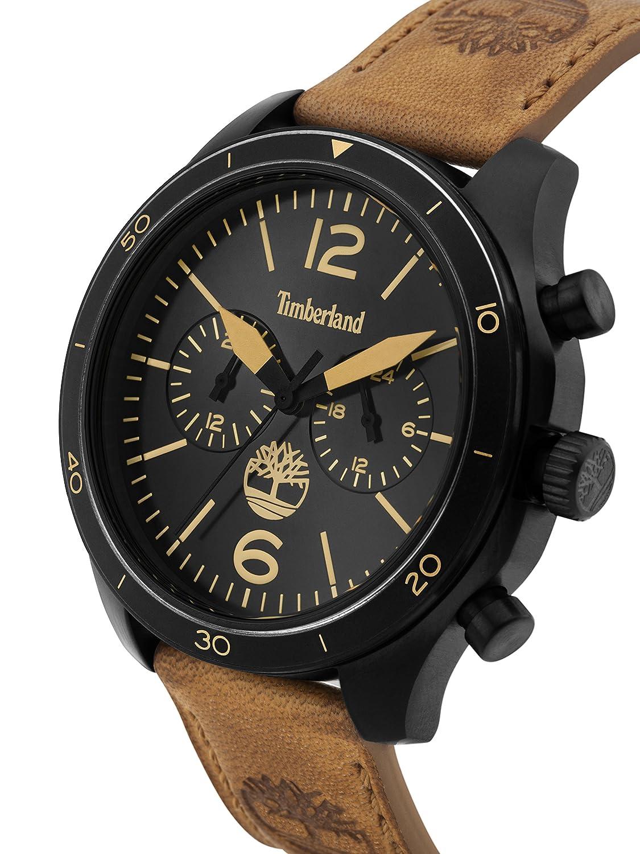 Zifferblatt Multi Quarz Mit Timberland Herren Leder Armband Uhr k0OPn8w