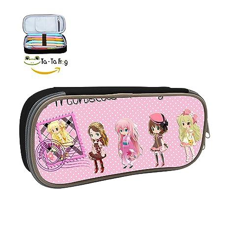 Amazon.com: Custom cute anime girls – Estuche gran capacidad ...