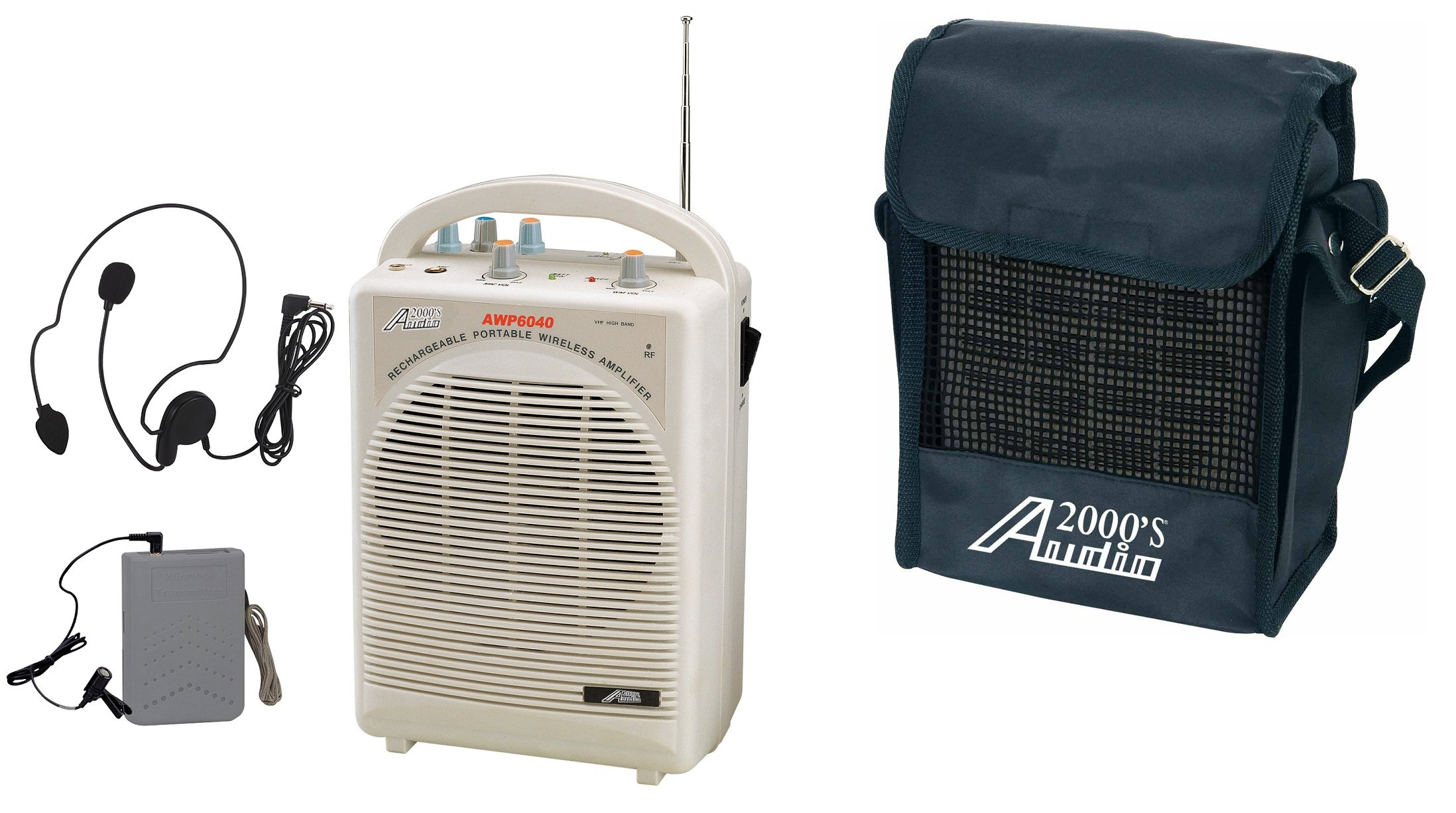 Audio2000'S AWP6040 Portable, Rechargeable PA System
