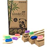 Bamboo Toothbrush, Soft Bristle Toothbrush, Eco Friendly & Natural, BPA Free, Wooden Toothbrushes, Zero Waste Products, Organ