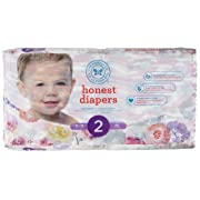 The Honest Company Diapers, Rose Blossom, Size 2, 40 Count