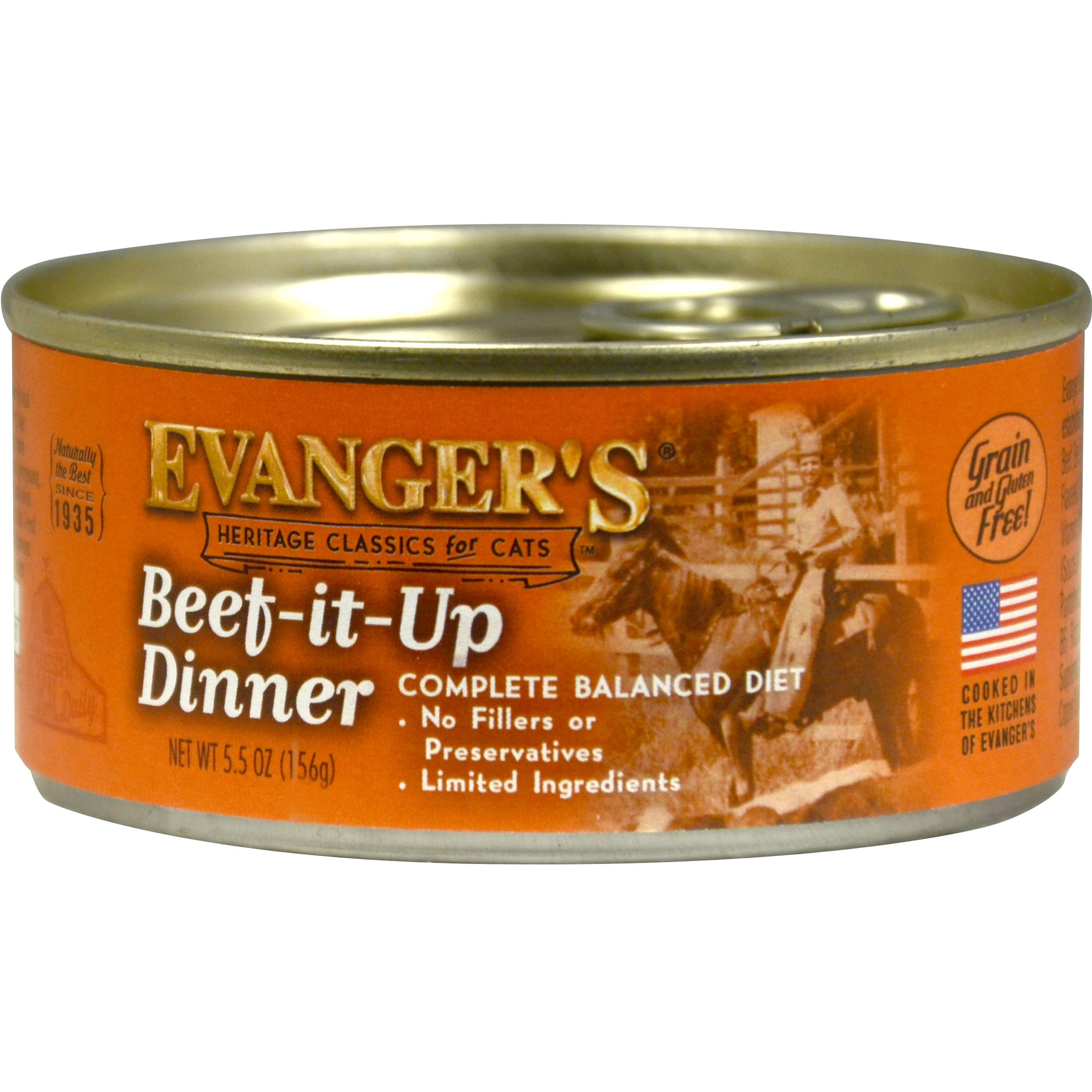 Evanger's Heritage Classic Beef It Up Dinner for Cats, 24 x 5.5 oz cans by Evanger's Dog & Cat Food Company, Inc.