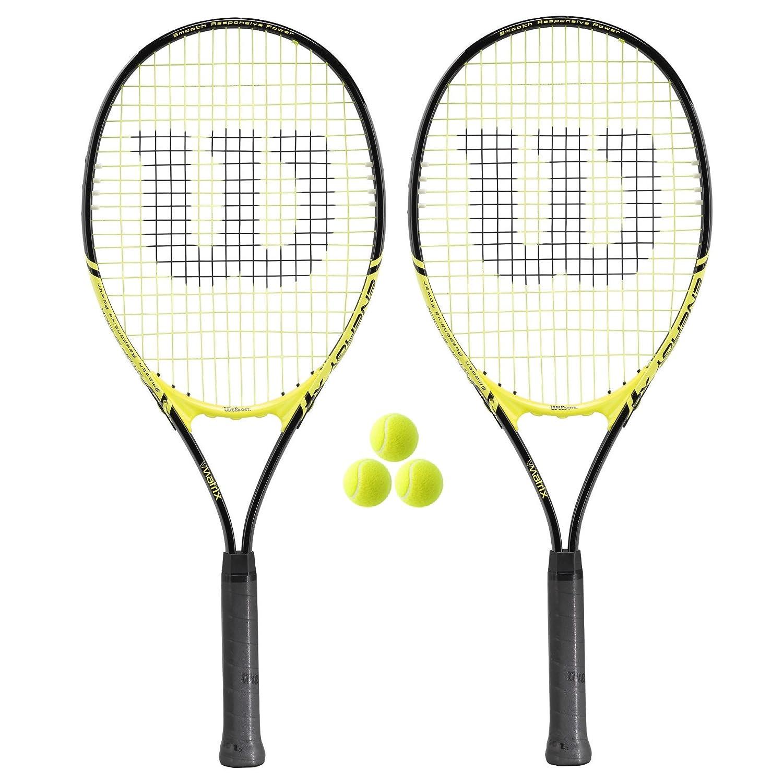2 x Wilson Energy XL Tennis Rackets + 3 Tennis Balls