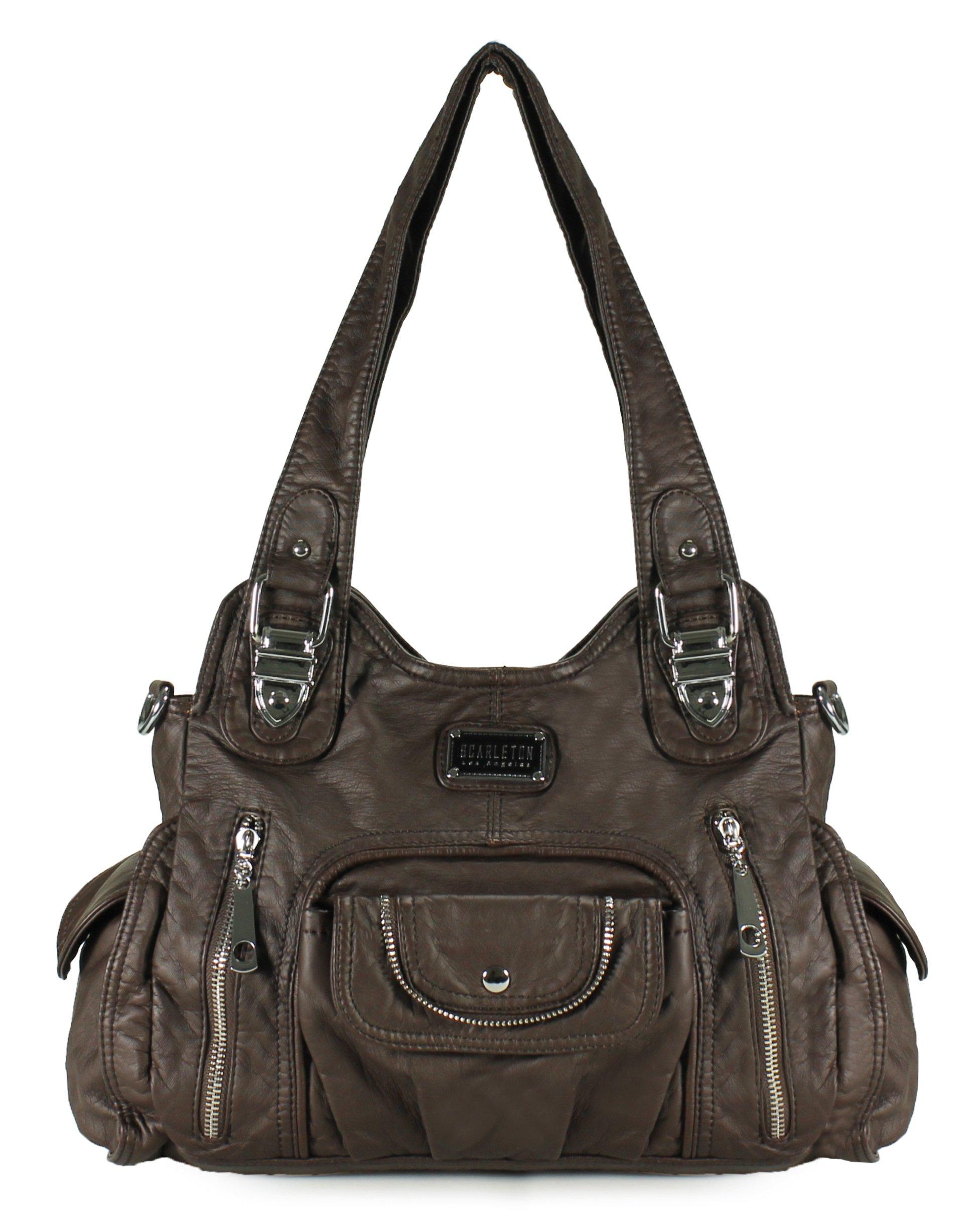 a64c4c3908 Amazon.com  Scarleton Fashion Decorative Zipper Shoulder Bag H163501 -  Black  Shoes