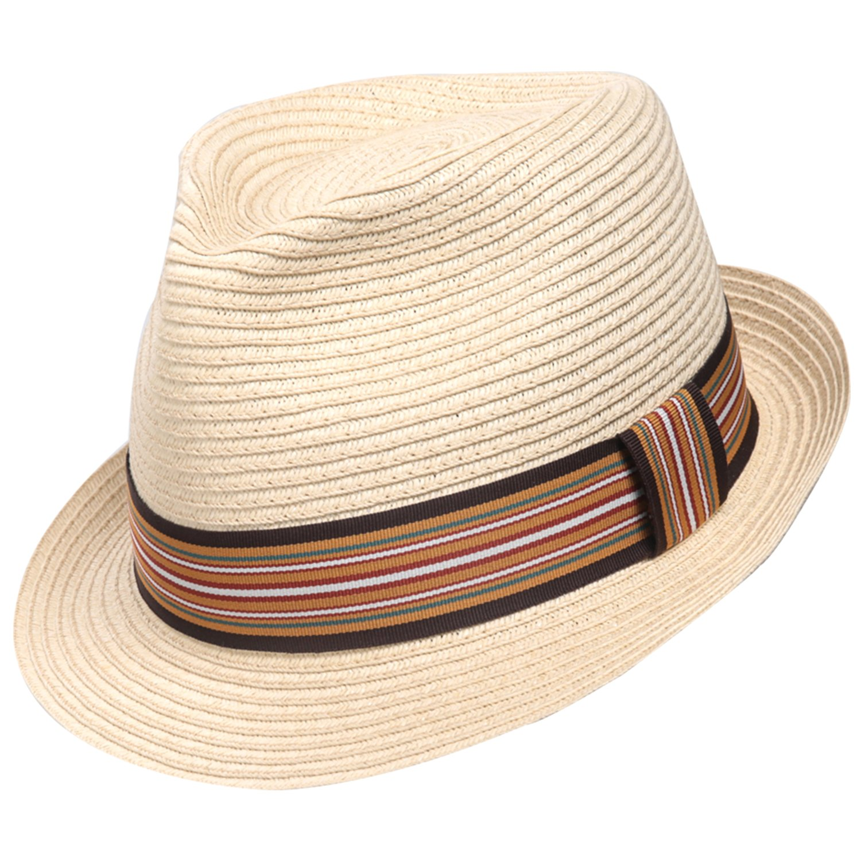 Sedancasesa Unisex Fedora Straw Sun Hat Paper Summer Short Brim Beach Jazz Cap