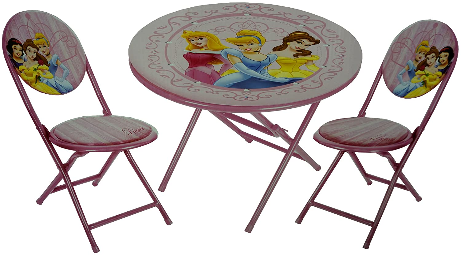 Amazon.com: Disney Princess Mesa Plegable y sillas Set: Baby