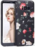 Galaxy S8 Case, Imikoko® 3D Embossed Elegant Flower Pattern Retro Floral Painting Beauty Protective Case Shockproof Anti Scratches Soft TPU Bumper Case Back Cover for Samsung Galaxy S8 5.8''