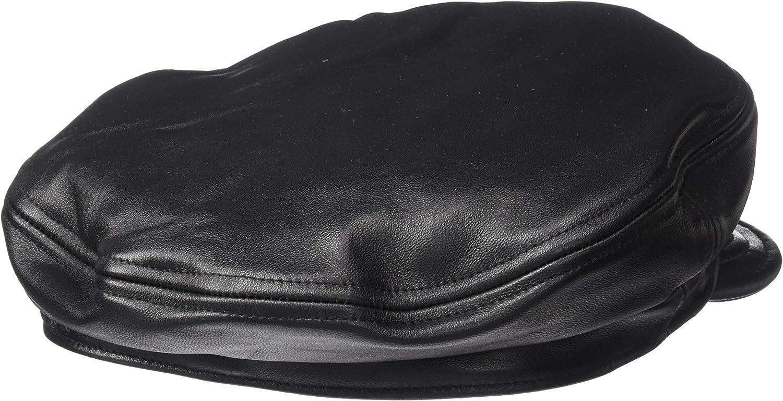 BRIXTON Mens Fiddler Unstructured Fisherman HAT S Black Leather