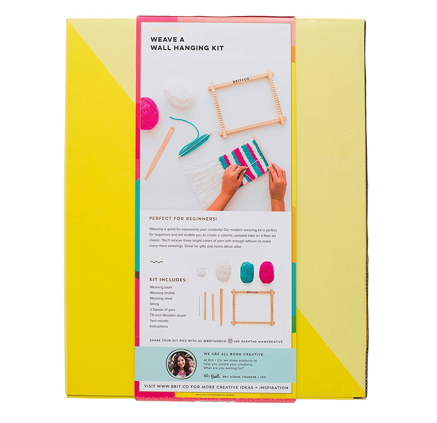 Amazon.com: Brit + Co Weave A Wall Hanging Kit