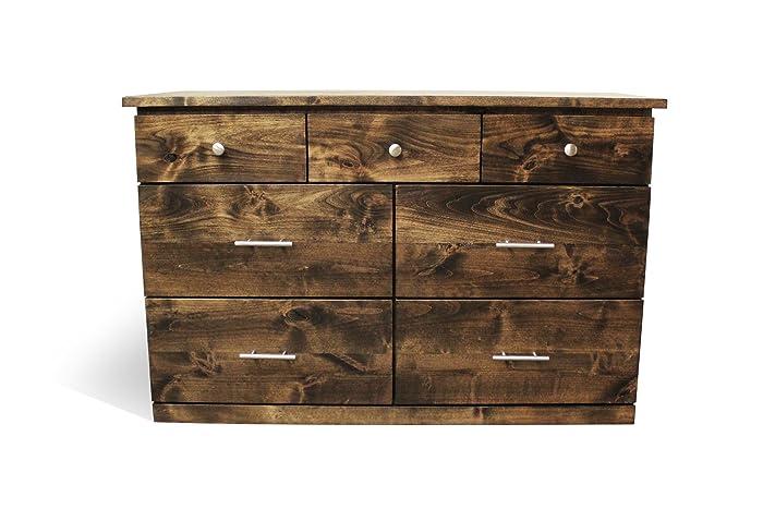 Amazon.com: Solid Wood Rustic Dresser | Home & Living | Bedroom ...