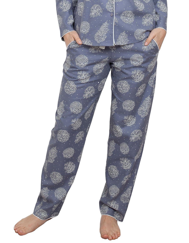 TALLA 36. Cyberjammies 3862 Women's Fifi Grey Floral Pajama Pyjama Pant