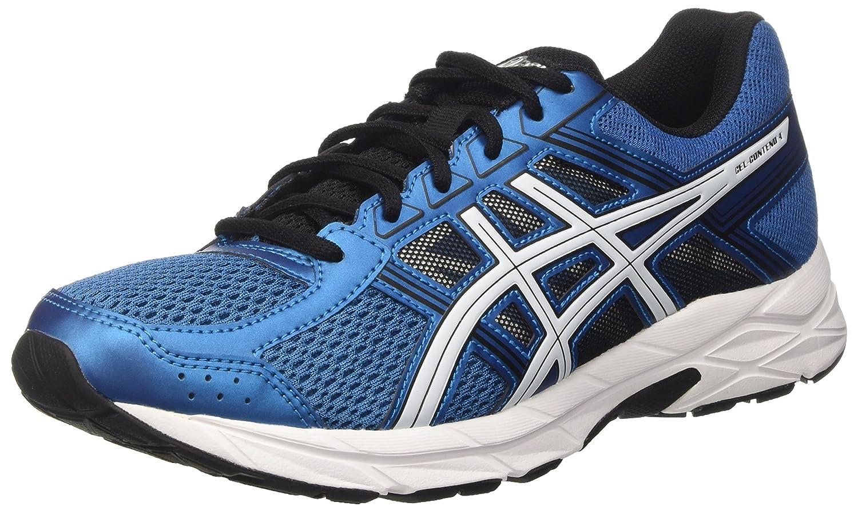 Asics Gel Contend 4, Zapatillas de Deporte para Hombre 44.5 EU|Azul (Thunder Blue/White/Black)