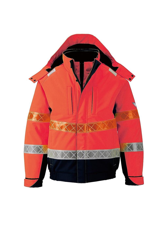 (ジーベック) XEBEC 全天候対応 高視認安全服 防水防寒ブルゾン (802-xe) 【M~5Lサイズ展開】 B0166P3P6I L オレンジ オレンジ L