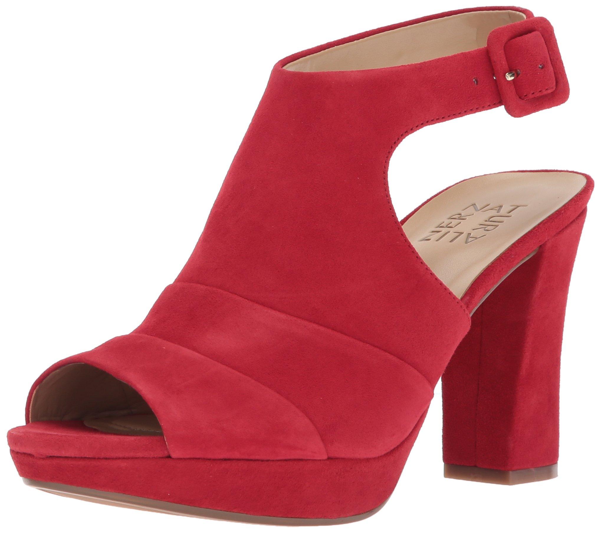 Naturalizer Women's Adrie Platform Dress Sandal, Red, 9.5 M US