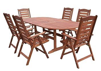 Gartentisch Und Stühle Holz.Hecht Garten Sitzgruppe Pragua Gartentisch Und 6 Stühle Aus Meranti Holz