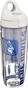 Tervis Duke University College Pride Water Bottle with Grey Lid, 24 oz, Clear -