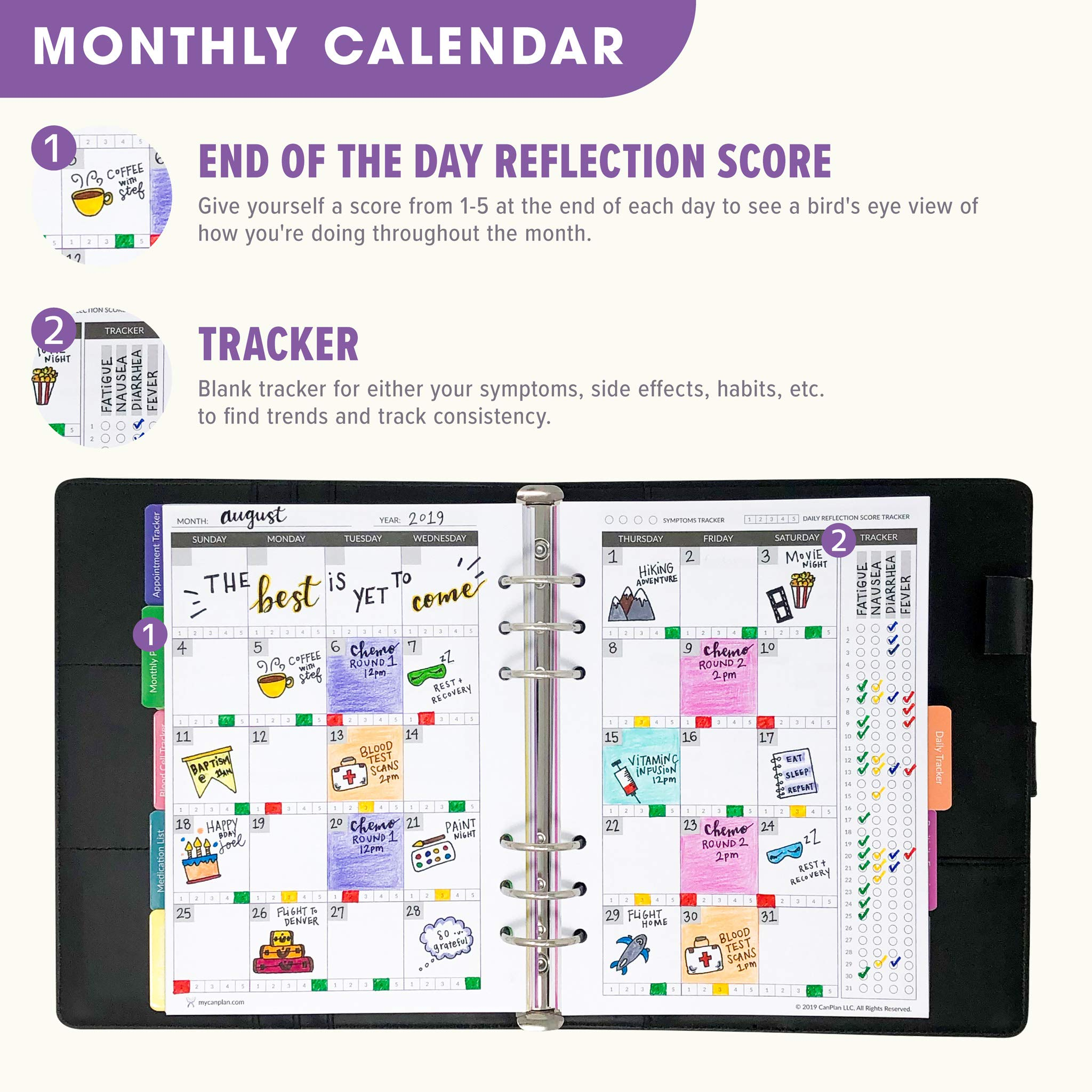 CanPlan Cancer Planner - The Only Planner Made to Help You Fight Cancer Day by Day, Undated Daily Organizer, Best Cancer Gift by CanPlan (Image #8)