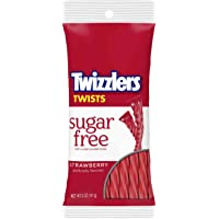 Sugar Free Strawberry Twizzlers 5 Ounce Theater Size Pack 1 Bag