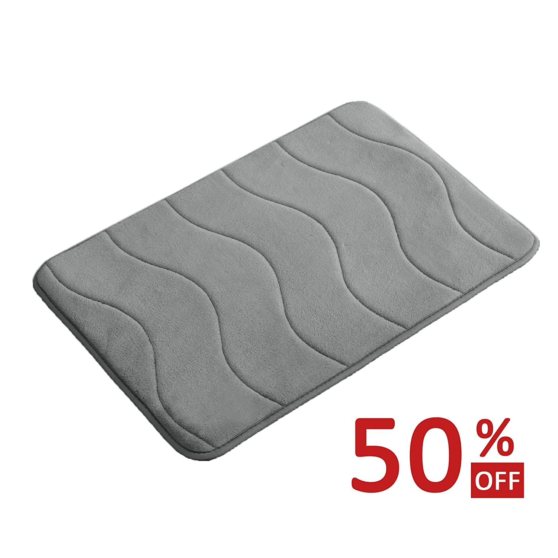 memory foam coral velvet non slip bathroom mat bath rug 17w x 24l inches 723800196277 ebay. Black Bedroom Furniture Sets. Home Design Ideas
