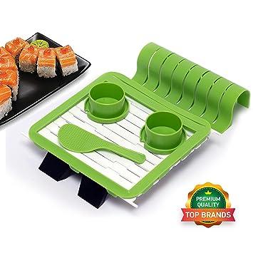 wesuco rollo de Sushi para hacer con sushi Rolling Mat, función atril para mat,