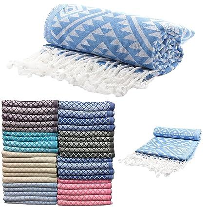 Venta Juego de 4 XL turco Hamam peshtemal algodón baño toalla de ducha Spa baño Jakar