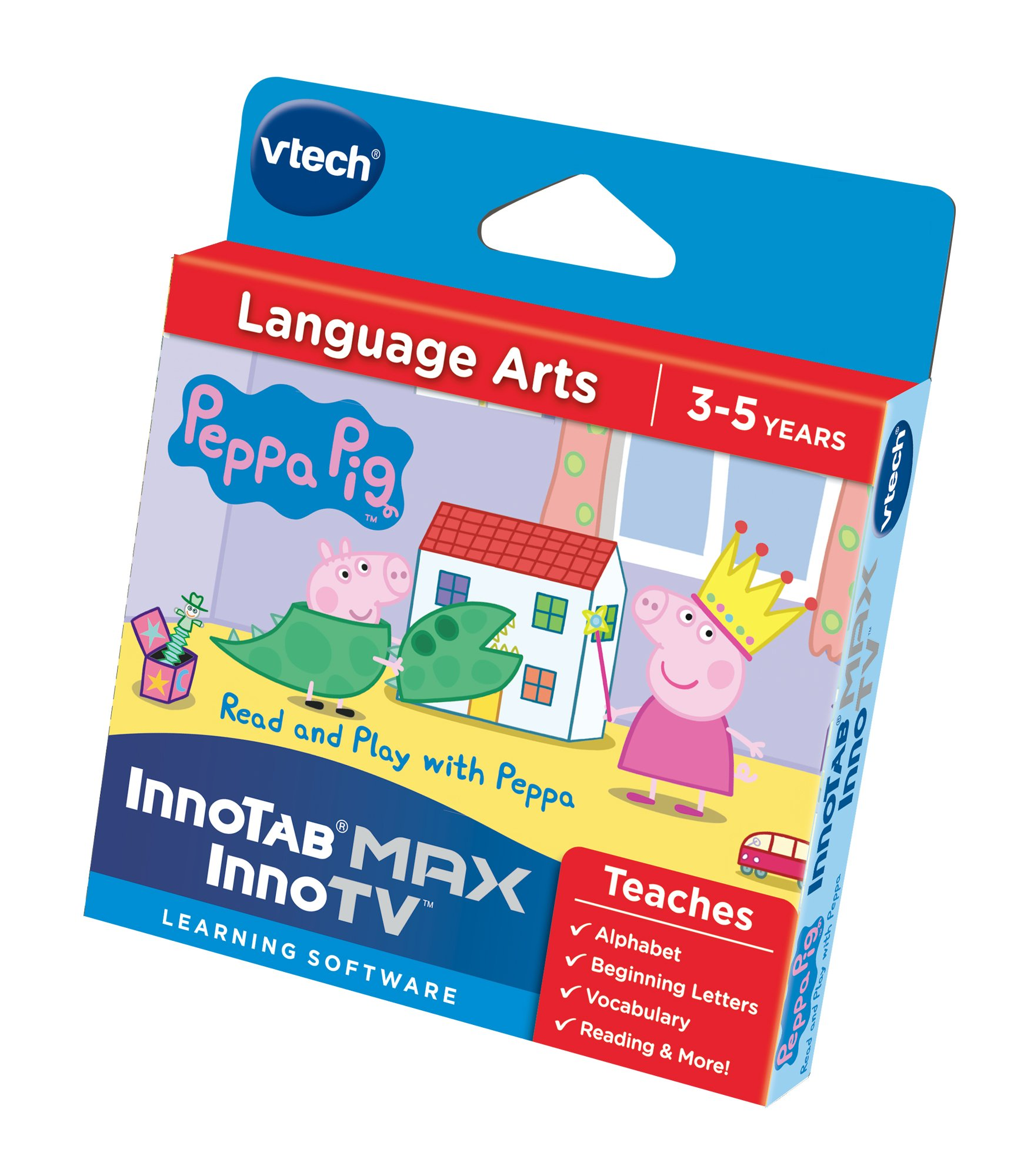 VTech 273403 InnoTV Innotab Max Peppa Pig Read and Play with Peppa Game - Multi-Coloured