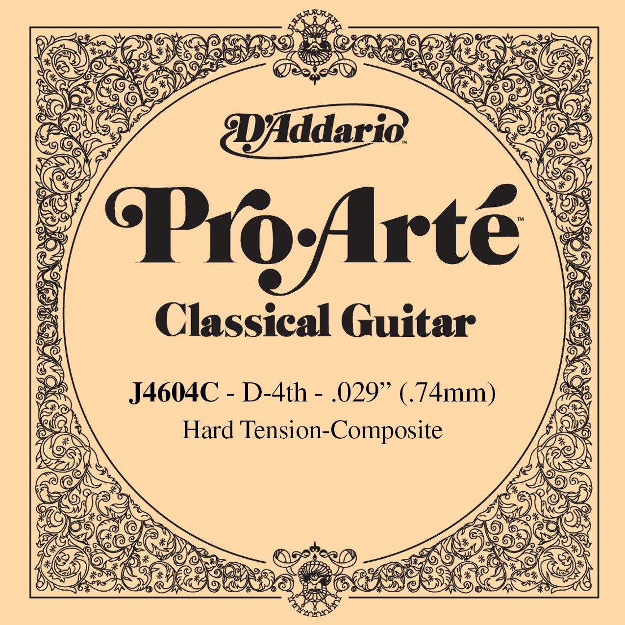 D'Addario J4604C Pro-Arte Nylon Classical Guitar Single String, Hard Tension, Fourth String D'Addario &Co. Inc