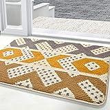 """Color&Geometry Indoor Doormat Front Door Mat 24""""x36"""" Waterproof, Non Slip Washable Quickly Absorb Moisture and Resist Dirt Ru"""
