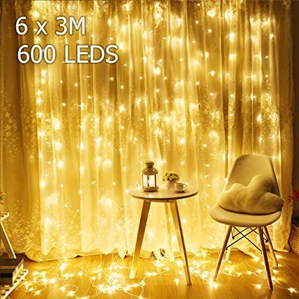6x3m 600leds Remote Control Indoor Drop Led Light Led Curtain String Light For Wedding Home Garden Party Decor Light Security & Protection
