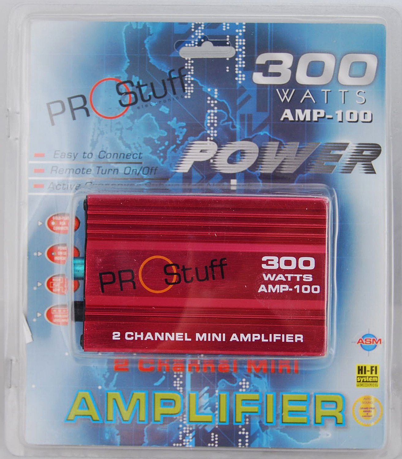 Prostuff AMP-100 300 Watt 2CH Mini Amplifier for Car and Motorcycle by Nova (Image #4)