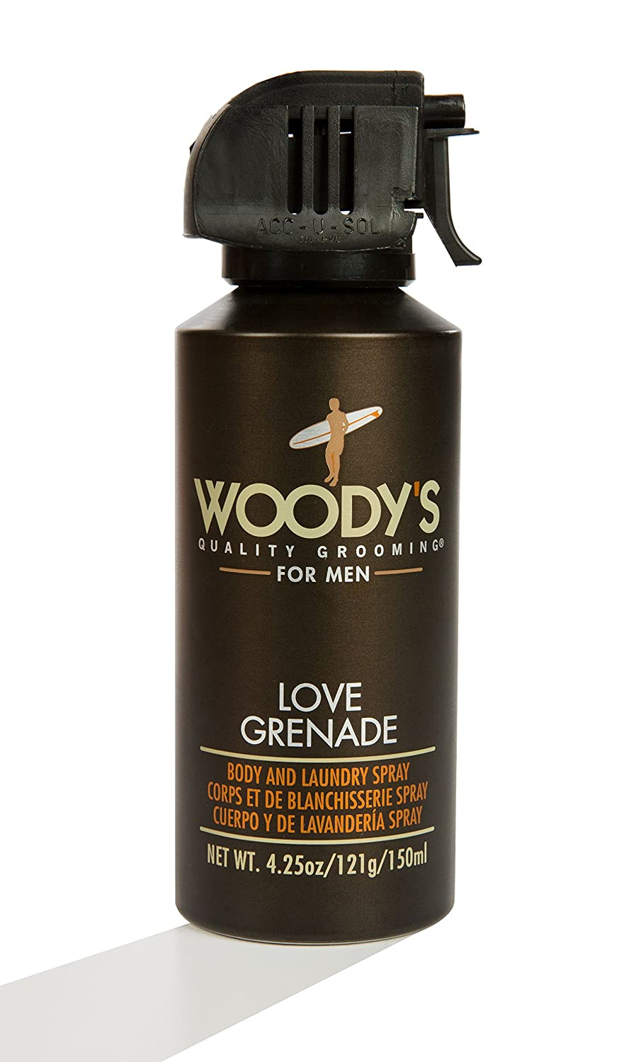 Woody's Body and Laundry Deo Spray, 4.25 Ounce