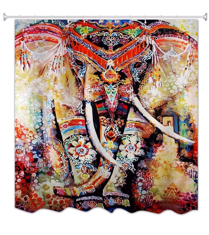 A.Monamour Multicolor Bohemio Floral Elefante Indio Hippie Mandala ...