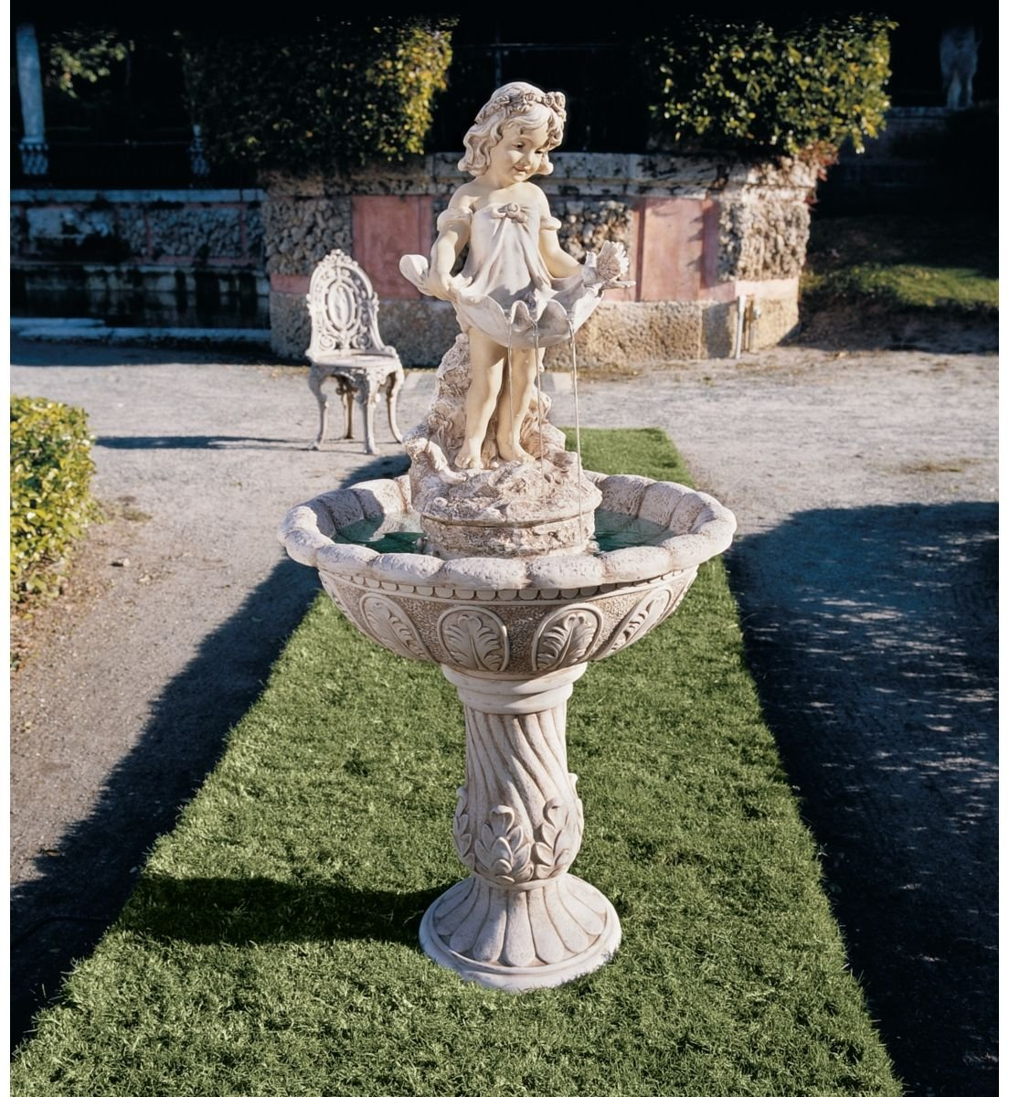 48.5'' Victorian Childhood Statue Sculpture Fountain