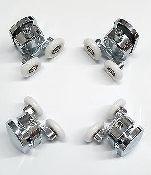 yellowshop – Set Kit 4 rodamientos para Box ducha doble rueda a bola rodillo roldanas Repuesto correderas puerta cabina baño: Amazon.es: Bricolaje y herramientas