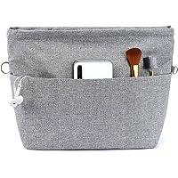 Yoillione Organizador de bolsos en bolsa, organizador para mujer, gris, resistente al agua, pequeño, con cremallera y…