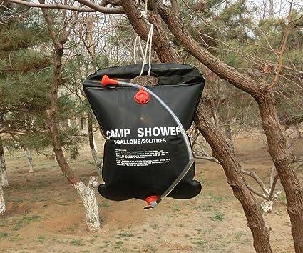 Safari camping al aire libre portátil 5 gallon 20 litros bolsa de ducha solar: Amazon.es: Deportes y aire libre