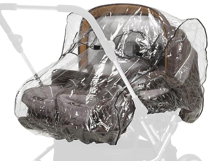 Playshoes 448963 universal cubierta impermeable, protección contra la lluvia, de lluvia para Zwilling carro, transparente: Amazon.es: Bebé