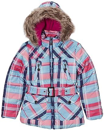 Amazon.com: Dollhouse Girls Fleece Lined Hooded Long Bubble Jacket ...